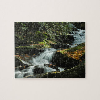 Autumn Woodland Waterfall Puzzle