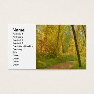 Autumn Woodlands Business Card