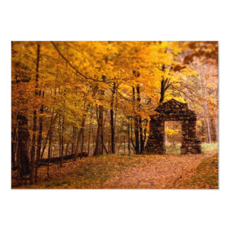 "Autumn Woods 5"" X 7"" Invitation Card"