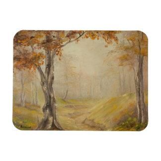 Autumn Woods Landscape Magnet