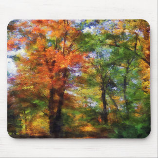 Autumn Woods Mousepads