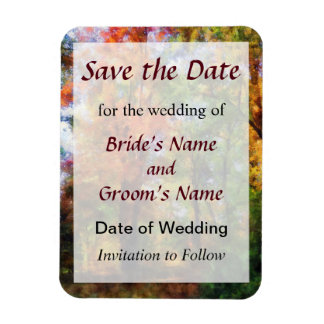 Autumn Woods Save the Date Magnet