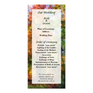 Autumn Woods Wedding Program