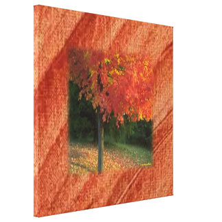 Autumn Wrapped Canvas