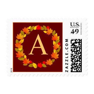 Autumn Wreath Customizable Postage Stamp
