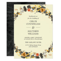 Autumn Wreath | Modern Wedding Card