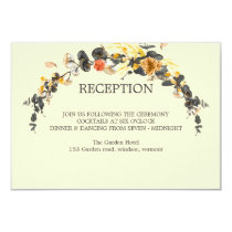 Autumn Wreath | Modern Wedding RECEPTION Card