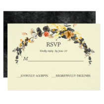 Autumn Wreath | Modern Wedding RSVP Card