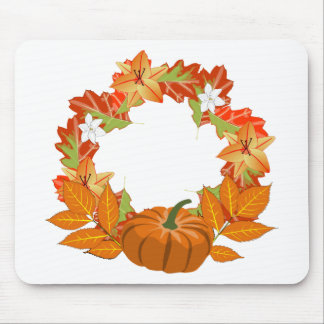 autumn wreath mouse pad
