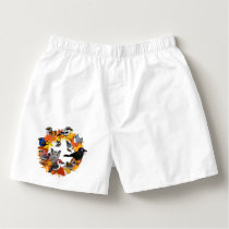 Autumn Wreath of North American Birds Boxers