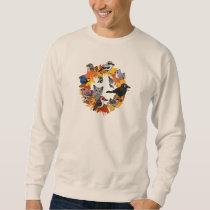 Autumn Wreath of North American Birds Sweatshirt