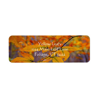 Autumn Yellow Leaves Address Labels