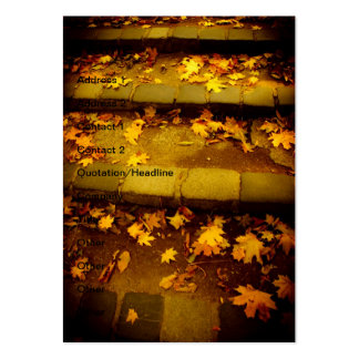 Autumn yellow leaves large business cards (Pack of 100)
