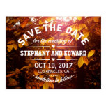 Autumn Yellow Leaves Save the Date Postcard