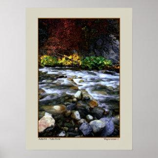 Autumn - Yuba River, California Poster