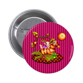 Autumn Zebra Pixel Art Pinback Buttons