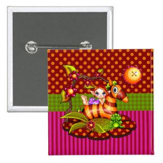 Autumn Zebra Pixel Art Buttons