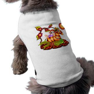 Autumn Zebra Pixel Art Dog Tee Shirt