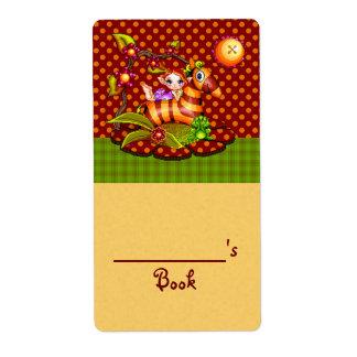 Autumn Zebra Pixel Art Label