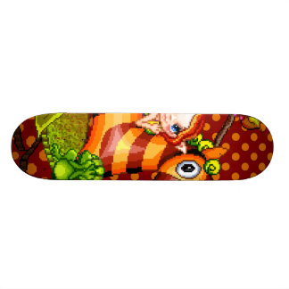 Autumn Zebra Pixel Art Skateboard Deck