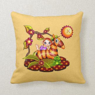 Autumn Zebra Pixel Art Throw Pillow