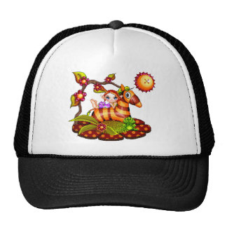 Autumn Zebra Pixel Art Trucker Hat