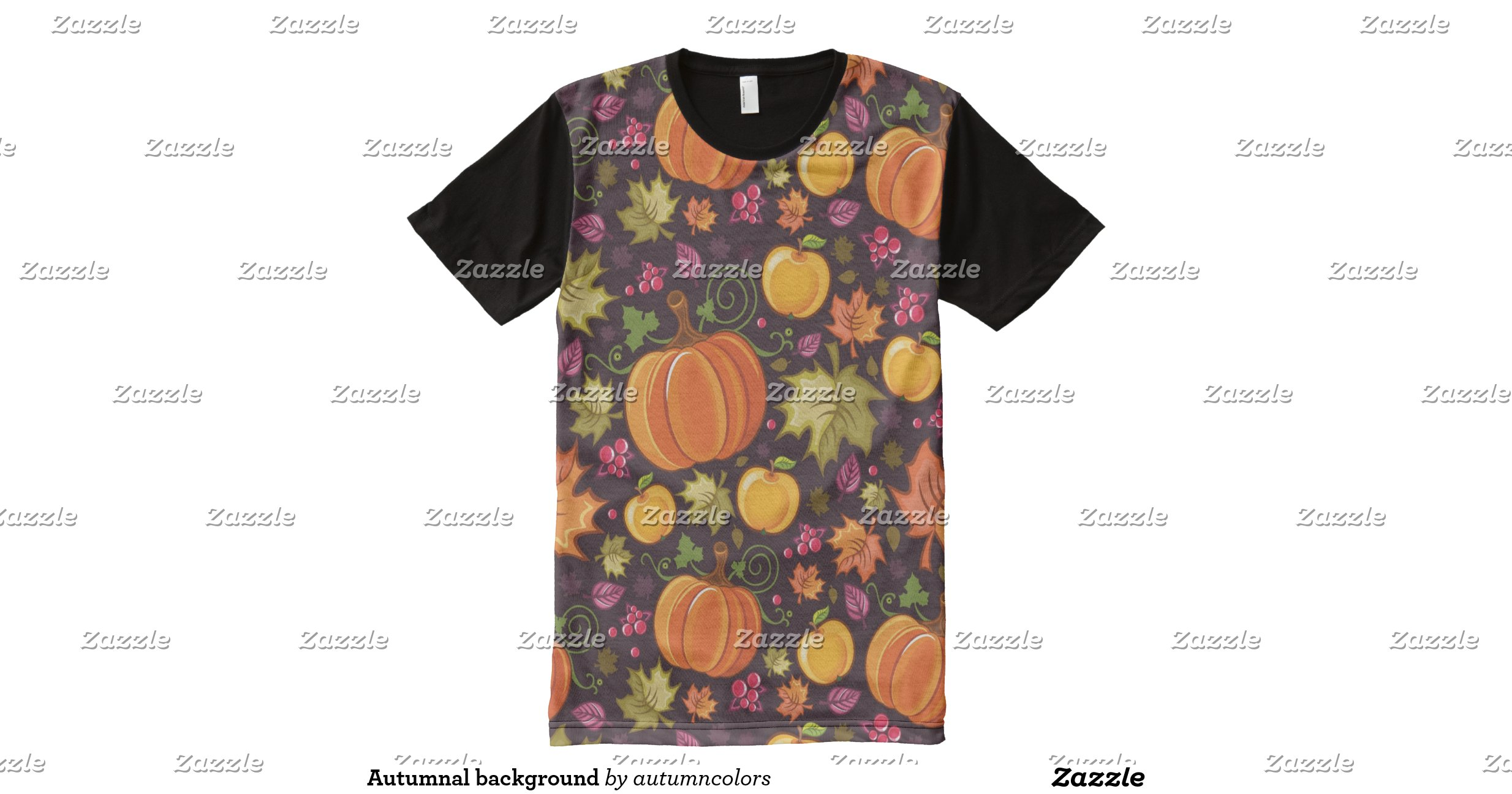 Autumnal background all over print t shirt zazzle for All over print t shirt