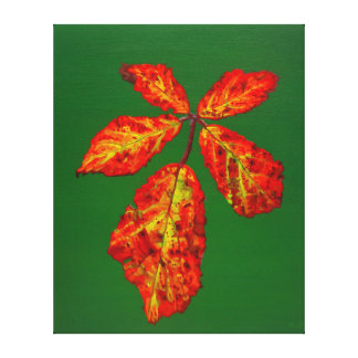 Autumnal Briar Leaves 4 Stretched Canvas Print