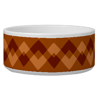 Autumnal Brown Colors Geometric Pattern. Bowl