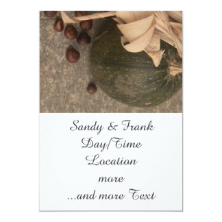 autumnal decoration 5x7 paper invitation card