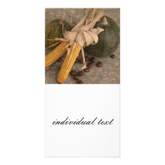 autumnal decoration photo card