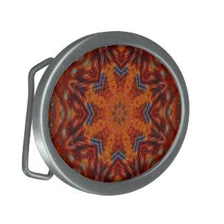 Autumnal Dream Mosaic Mandala Buckle Oval Belt Buckle