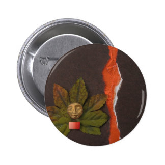 Autumnal Equinox - collage Button