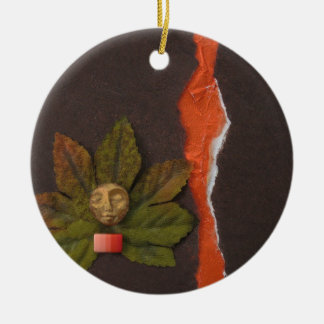 Autumnal Equinox - collage Ceramic Ornament