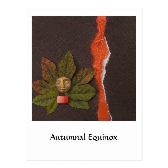 Autumnal Equinox - collage Postcard