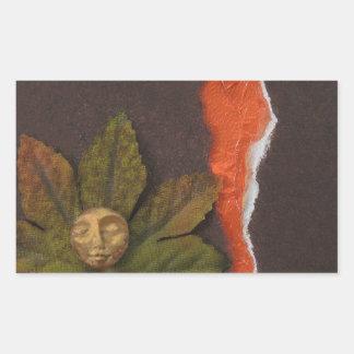 Autumnal Equinox - collage Rectangular Sticker