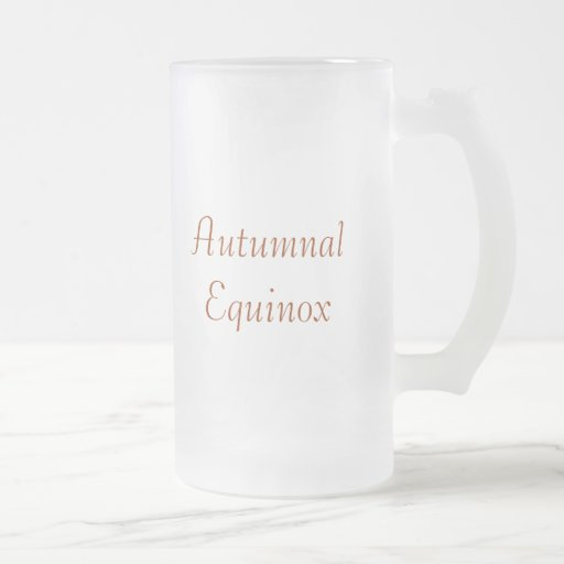 Autumnal Equinox Frosted Glass Beer Mug