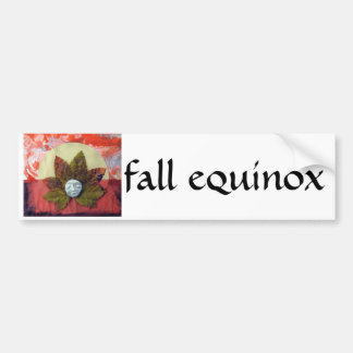 Autumnal Equinox Sunset - collage Car Bumper Sticker