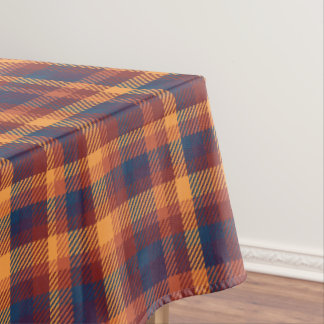 Autumnal Fall Earth Tones Tweed Plaid Pattern Tablecloth