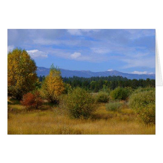 Autumnal Idaho Card