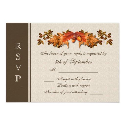Autumnal leaves RSVP Invitation