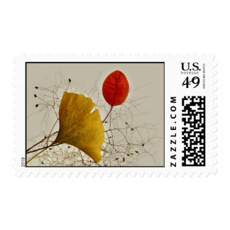 Autumnal leaves stamps