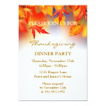 "Autumnal leaves Thanksgiving Party Invitation 5"" X 7"" Invitation Card"
