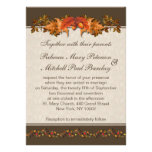 Autumnal leaves Wedding Personalized Announcements