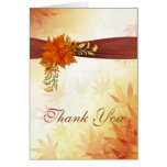 Autumnal leaves Wedding Thank You Stationery Note Card