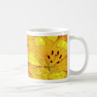 Autumnal Lillies Coffee Mug