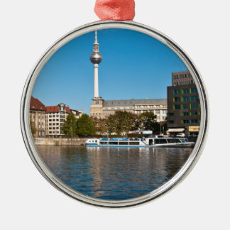 Autumnal morning tendency to the Spree in Berlin Metal Ornament