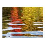 autumnal reflections postcard