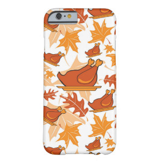 Autumnal seamless pattern with turkeys barely there iPhone 6 case