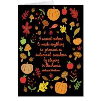 Autumnal Sunshine Card